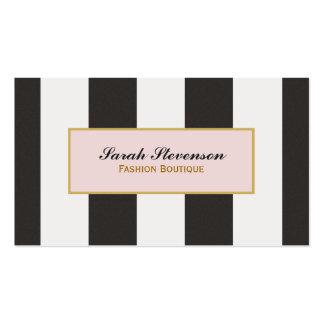 Boutique blanco y negro elegante de la moda de las plantilla de tarjeta de visita