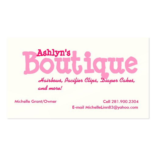 Boutique Double Sided Standard Business Cards Pack 100