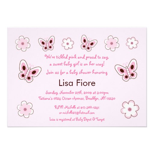 boutique butterfly custom baby shower invitations zazzle