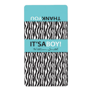 Boutique Chic Boy Mini Hersheys Label CTS Shipping Label