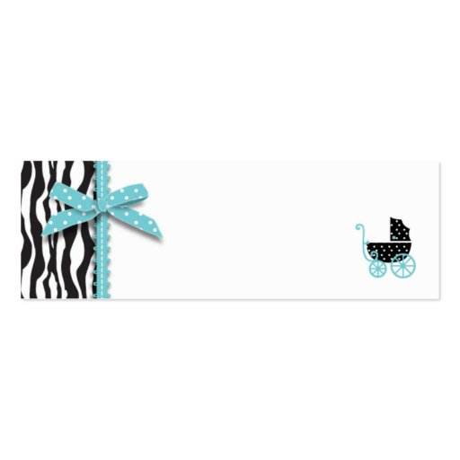 Boutique Chic Boy Skinny Gift Tag Double-Sided Mini Business Cards (Pack Of 20)