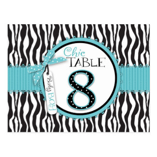 Boutique Chic Boy Table Number Postcard 8