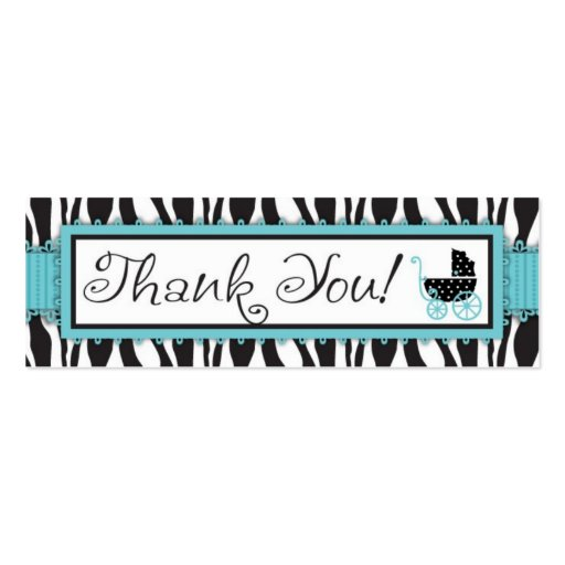 Boutique Chic Boy TY Skinny Gift Tag Business Card Template
