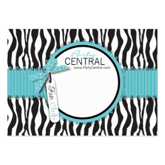 Boutique Chic Business Card FC Aqua