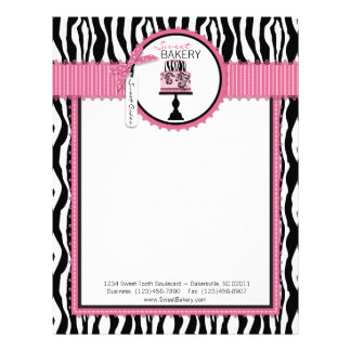 Boutique Chic Cake Bakery Letterhead