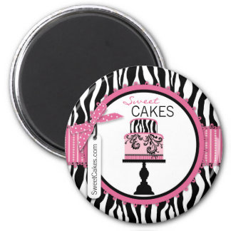 Boutique Chic Cake Bakery Magnet