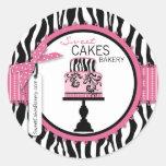 Boutique Chic Cake Business Sticker