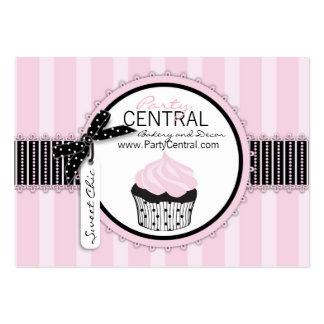 Boutique Chic Cupcake Bakery Large Business Cards (Pack Of 100)