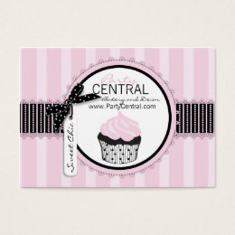 Boutique Chic Cupcake Bakery Business Card