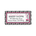 Boutique Chic Cupcakes Business Address Label