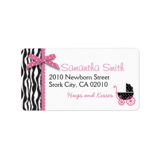 Boutique Chic Girl Address Label
