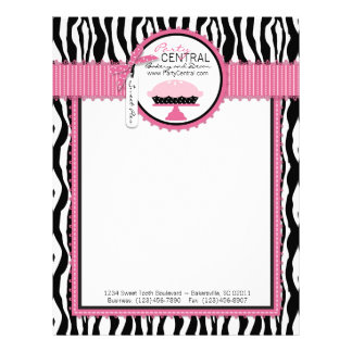 Boutique Chic Pie Bakery Letterhead