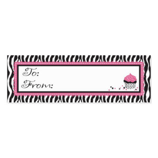 Boutique Chic Skinny Gift Tag Business Card Templates