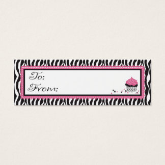 Boutique Chic Skinny Gift Tag Mini Business Card