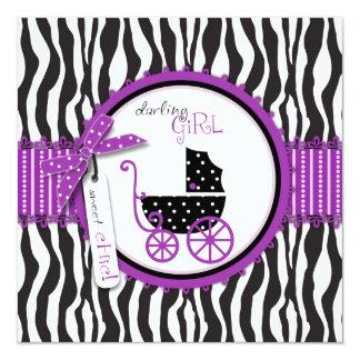 """Boutique Chic Violet Invitation Square 5.25"""" Square Invitation Card"""