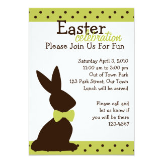 Boutique Chocolate Bunny Card