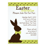 Boutique Chocolate Bunny Personalized Invites