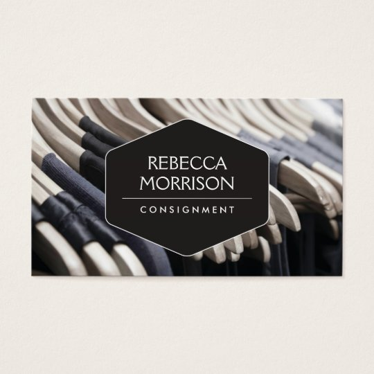 Boutique Consignment Fashion Designer Closet Business Card