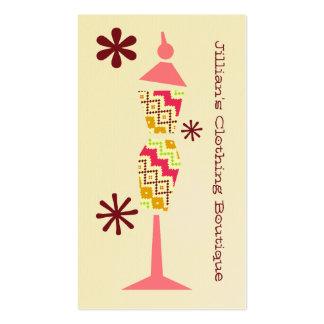 Boutique de la tienda de ropa - forma tribal del v plantilla de tarjeta de visita