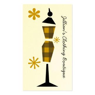 Boutique de la tienda de ropa - maniquí amarillo tarjeta personal