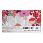 Boutique de madera floral del envío del país lindo tarjetas de negocios