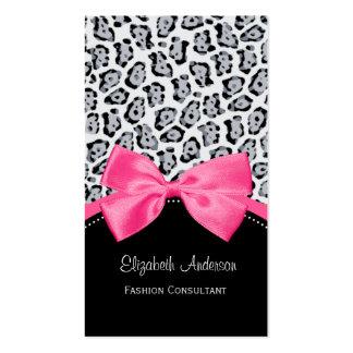 Boutique de moda de la moda de la cinta del rosa d plantillas de tarjetas de visita