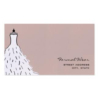 Boutique del desgaste formal - vestido de boda tarjetas de visita