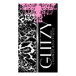 Boutique del Glitz 311 - leopardo rosado de la Tarjetas De Visita