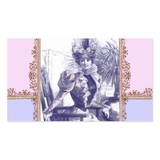 Boutique del vintage - diva de la era del tarjetas de visita
