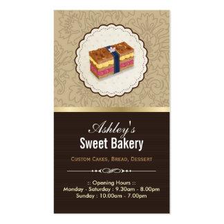 Boutique dulce de la panadería - pan que mira la tarjetas de visita