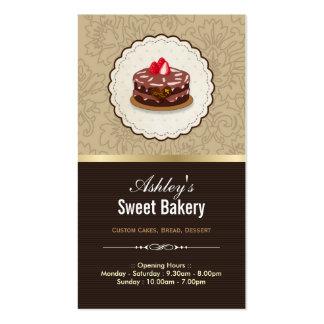 Boutique dulce de la panadería - pasteles de los c tarjetas de negocios