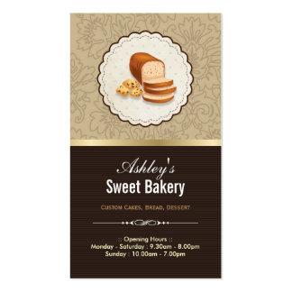 Boutique dulce de la panadería - postre de la tarjetas de visita