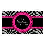 Boutique elegante de la joyería de la moda del cor tarjetas de visita