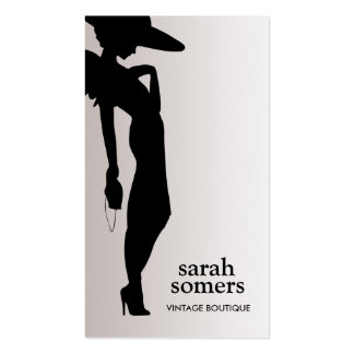Boutique elegante del envío del modelo de moda tarjetas de visita