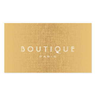 Boutique-Fashion Accessories Gold Linen Card Double-Sided Standard Business Cards (Pack Of 100)