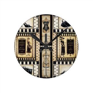 Boutique francés reloj de pared