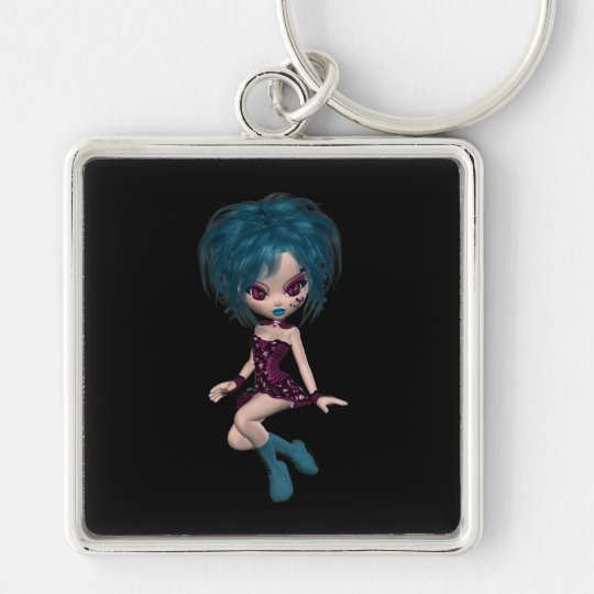 Boutique Gothique Mascot Goth Girl 9 Keychain