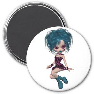 Boutique Gothique Mascot Goth Girl 9 Refrigerator Magnet