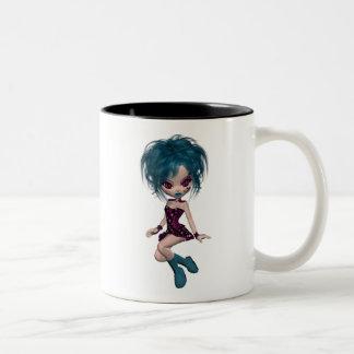 Boutique Gothique Mascot Goth Girl 9 Two-Tone Mug