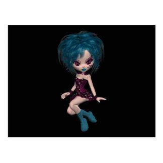 Boutique Gothique Mascot Goth Girl 9 Postcard