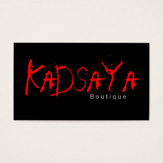 Boutique Kadsaya 3 Store Business Card