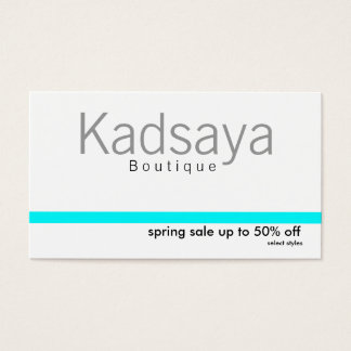 Boutique Kadsaya 7 Promotion Store Business Card