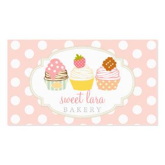 Boutique lindo de las magdalenas dulces retras del tarjetas de visita