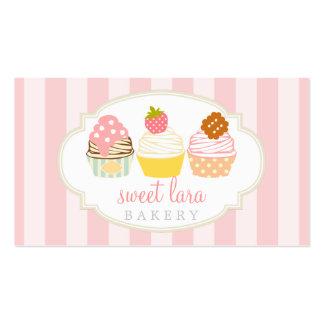 Boutique lindo de las magdalenas dulces retras del tarjeta de negocio