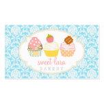 Boutique lindo de las magdalenas dulces retras del plantilla de tarjeta personal