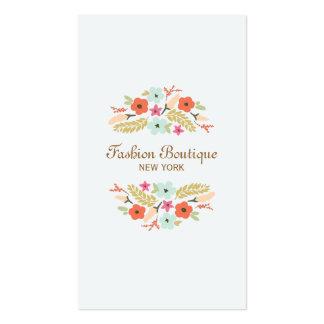Boutique lindo y caprichoso del ramo de la flor tarjetas de visita