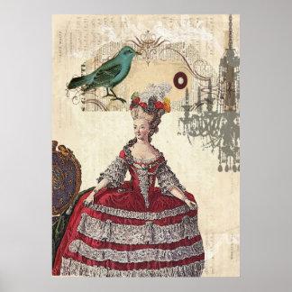 Boutique Marie Antonieta de la lámpara del pájaro  Impresiones