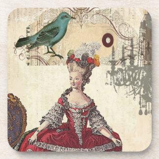 Boutique Marie Antonieta de la lámpara del pájaro  Posavasos De Bebidas