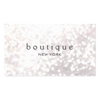 Boutique moderno de la moda del brillo blanco de tarjetas de visita