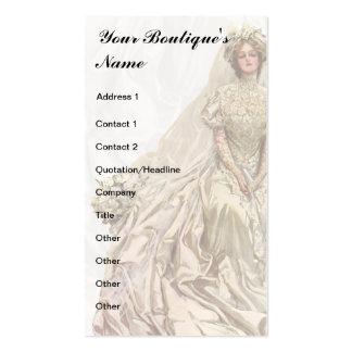Boutique nupcial, vestido de boda, costurera tarjetas de visita